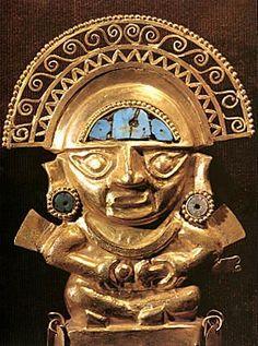 Estatua Inca Los incas elaboraban vasijas y estatuas utilizando el método de vaciado, vertiendo metal fundido en un molde.