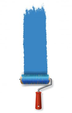 Paint roller leaving stroke of blue paint. for banners, posters, leaflets and brochure Free Vector Web Banner, Banners, Tinta Tattoo, Durga Painting, Painting Logo, Water Logo, Color Collage, Roller, Layout Design