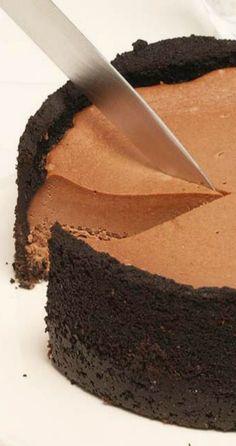 Chocolate Irish Cream Cheesecake.