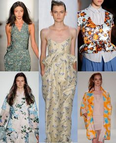 We're excited for pretty, muted florals this spring after seeing them up and down at #NYFW