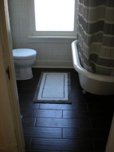 tile that looks like hardwood bathrooms
