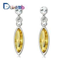 1fbb83e84 2017 Vintage Rhinestone Water Drop Earrings Wholesale Silver Plated Fashion  Long Earrings For Women Wedding Jewelry Brincos-in Drop Earrings from  Jewelry ...