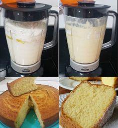Ingredientes: 5 ovos 1 xícara de açúcar 2 xícaras de amido de milho Modo de preparo: Coloque os ovos no liquidificador e bata por 5 minutos. Adicione o açúcar aos poucos deixe batendo por 10 minutos. Depois adicione o amido de milho e só bata até... Bolos Light, Pastel, Cookies, Glass Of Milk, Kitchen Appliances, Diet, Food, 1, Instagram