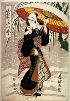 Utagawa Toyokuni I Title:Iwai Hanshiro V as a Woman in the Snow Date:ca.