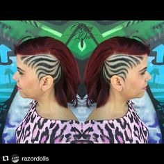 """#Repost @razordolls with @repostapp ・・・ Hairtattoo ✌️ #razordolls #chapelstreet #grafittywall #hairdesign #hairtattoo #hairtattoos #hairetching…"""