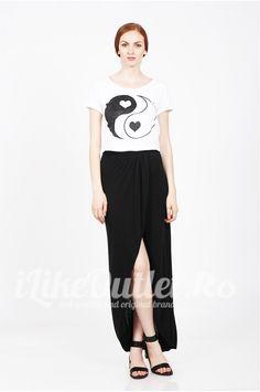 Tricou alb Yin&Yang - NOISY MAY