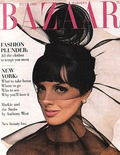 Fashion by Halston on the cover of Harper's Bazaar