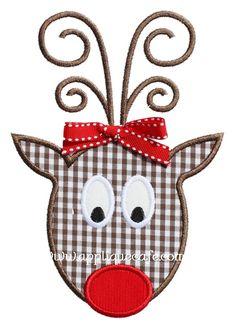 Rudolph 3 Applique Design, real cute.