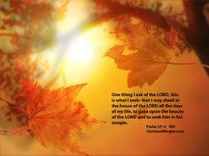 Religious Pictures Christian | Psalm 27: 4 the beauty of our Lord | ChristianMingler