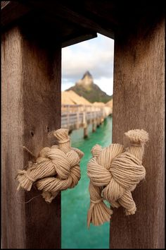 Tahiti -also cool idea for door knobs for beach theme room or pool house