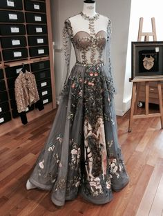 Le Jardin d'Eden dress by Valentino Couture spring 2014, in the Lesage atelier