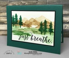 Learn an easy watercolor technique using waterfront stamp set, aquapainter, and stampin' Up! stampin' pads.