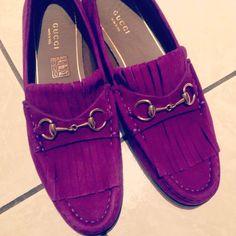 Gucci purple loafers