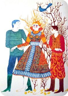 """from """"the prince and his magic horse: hungarian folktales"""", illustrated by gabriella hajnal and published by athenaeum printing house, budapest, 1975 Children's Book Illustration, Conte, Game Art, Childrens Books, Folk Art, Graphic Art, Fairy Tales, My Books, Prince"""