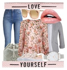 """""""LOVE  YOURSELF"""" by elen25 ❤ liked on Polyvore featuring Miss Selfridge, Topshop and Olivia Burton"""
