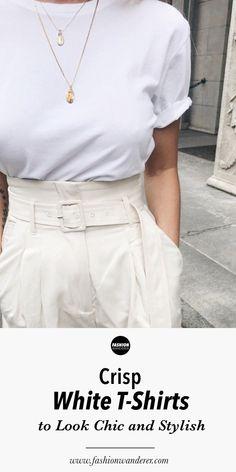 9c9e5b3331e Plain White T-shirts To Look Chic and Stylish
