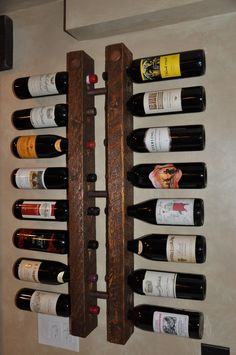 Tuscan Decor 16 Bottle Copper and Wood Wine Rack. $185.00, via Etsy.