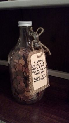 A simple gift idea for your 7th wedding anniversary via ...