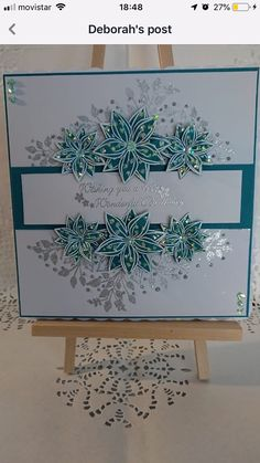Handmade Birthday Cards, Handmade Cards, Card Crafts, Paper Crafts, Chloes Creative Cards, Stamps By Chloe, Poinsettia Cards, D Flowers, Birthday Card Design