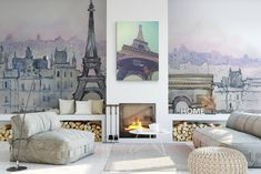 I love Paris • Contemporary - Architecture and buildings - Wall Murals - Prints ✓ 365 Day Money Back Guarantee ✓ Consulting on the Pattern Selection ✓ 100% Safe✓ Set up online!
