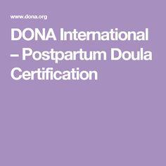 DONA International – Postpartum Doula Certification