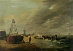 Yarmouth North Beach, Norfolk by Henry Baines Oil on canvas, 40 x 61 cm Collection: Great Yarmouth Museums Great Yarmouth, North Beach, Art Uk, Your Paintings, Norfolk, Archaeology, Oil On Canvas, Museums, Image