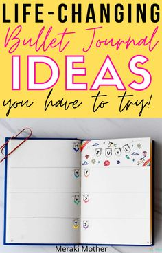 Read here to find awesome bullet journal page ideas that will change your life! Find clever layouts, helpful trackers and more organization inspiration!