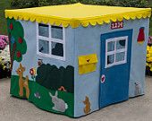 "Immediate Shipping Construction Site Playhouse, Fits your 34"" Card Table. via Etsy."