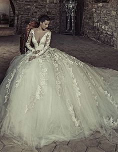 Featured Dress: Julia Kontogruni; Wedding dress idea.