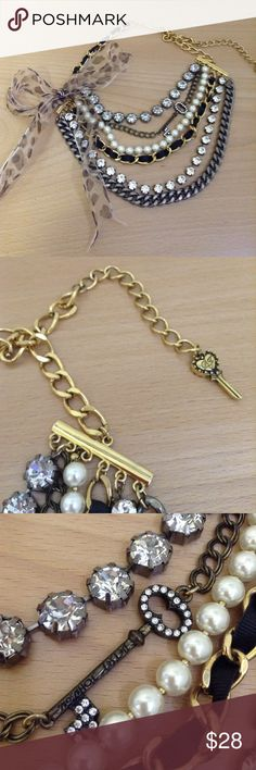Huge Betsey Johnson key necklace Lightly used. Betsey Johnson Jewelry Necklaces