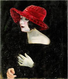 Otto Dix, Bildnis Frau Martha Dix (Portrait of Mrs. Martha Dix), 1923