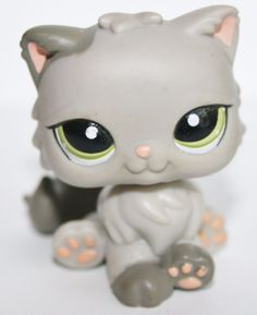 Littlest Pet Shop Persian Gray With Green Eyes for sale online