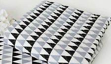 Modern triangle /Ready quilted Fabric/ All sizes/Pre-quilted padded fQ315