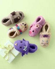 Baby Boiled Wool Slippers