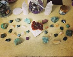 Double Prosperity Crystal Grid with green aventurine, ruby, pyrite, citrine, moss agate, emerald, jade and epidote.  Healing Crystals positivity metaphysical new age