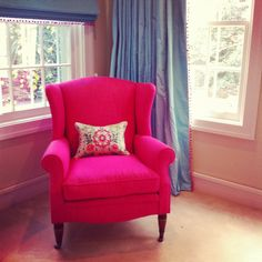 Chair in the guest room!!! LOVE the pink - absolutely beautiful things: Sydney Road Trip - Part 2