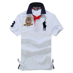 68361a3f02 2015 new spring auturn mens cotton Embroidery Big horse polo brand solid  polo shirt long sleeve for sport camisa masculina