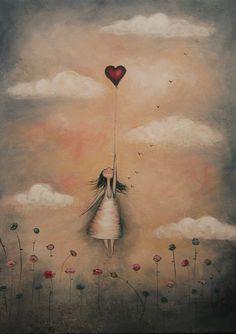 """Képtalálat a következőre: """"amanda cass artist"""" Foto Fantasy, Heart Art, Whimsical Art, Love Art, Painting Inspiration, Amanda, Art Drawings, Illustration Art, Sketches"""