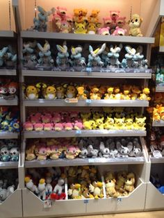 Pokemon Photos from Tokyo - Raichu Slowpoke Charizard Audino Minccino plush dolls