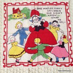 Vintage Hankie Handkerchief 1950's There by katiesklosetsunbury, $12.00