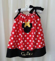 Personalized Disney Minnie Mouse Pillowcase Dress Size & white \u0026 pink ladybug pillowcase dress   Girly Girls - ruffles and ... pillowsntoast.com