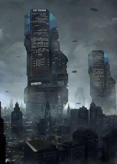 UET Tower cityscape by LMorse [http://lmorse.deviantart.com/art/UET-Tower-cityscape-443056126]
