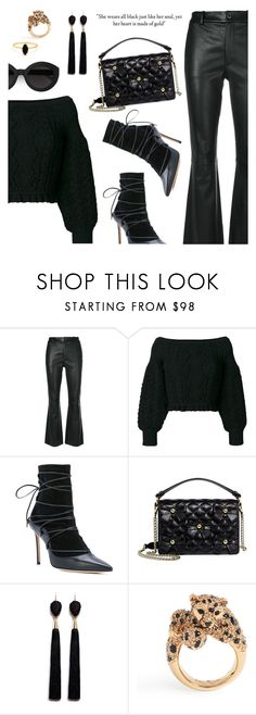 """""""Monochrome Black"""" by dressedbyrose ❤ liked on Polyvore featuring Helmut Lang, Valentino, Dsquared2, Boutique Moschino, Mignonne Gavigan, Carla Zampatti, Kate Spade, Bing Bang, ootd and polyvoreeditorial"""