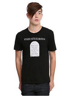 0e190998 Black T-shirt from Frnkiero Andthe Cellabration with a