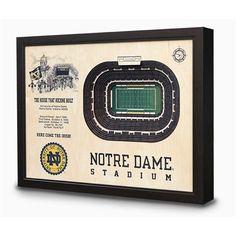 Notre Dame Fighting Irish 3D Stadium Wall Art by StadiumViews. But now @ReadyGolf.com!