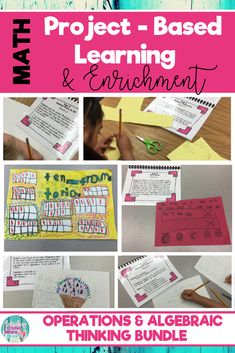 48 interactive and fun 1st and 2nd grade common core math enrichment projects that foster real life problem-solving. These operations & algebraic thinking project-based activities challenge elementary students and are perfect for gifted or highly capable students. Click the link to see what this is all about! #enrichment #mathenrichment #commoncore #commoncoremath #math #PBL #projectbasedlearning #1stgrade #firstgrade #2ndgrade #secondgrade #mathactivities #addition #subtraction #factsto20