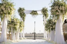 Beautiful beach ceremony at Shutters on the Beach in Santa Monica, California. Credits: Moments by Wayne, Michael Segal Photography, Blossom Floral, 204 Events. Event Venues, Wedding Venues, Beach Wedding Photos, Beach Ceremony, Getting Engaged, Santa Monica, Shutters, Beautiful Beaches, Got Married