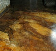 marbled acid stain patio