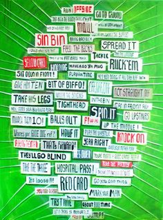 rugby word collage