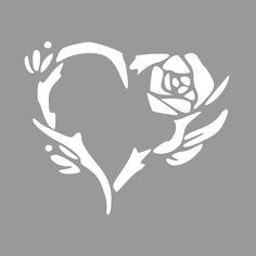 Roos sjabloon - Maak op maat en bestel